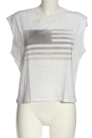 Tommy Hilfiger T-Shirt weiß Motivdruck Casual-Look