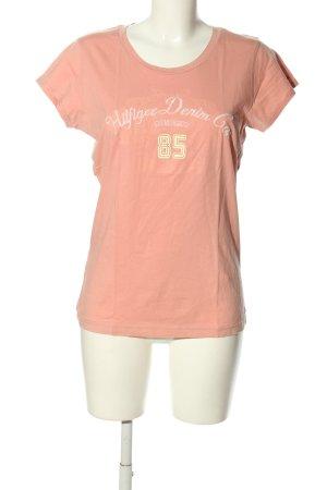 Tommy Hilfiger T-Shirt pink Schriftzug gestickt Casual-Look
