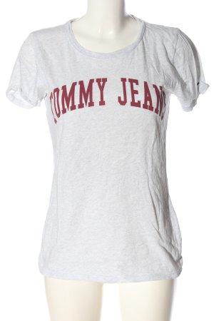 Tommy Hilfiger T-Shirt weiß-rot Schriftzug gedruckt Casual-Look