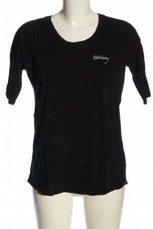 Tommy Hilfiger T-Shirt schwarz Motivdruck Casual-Look