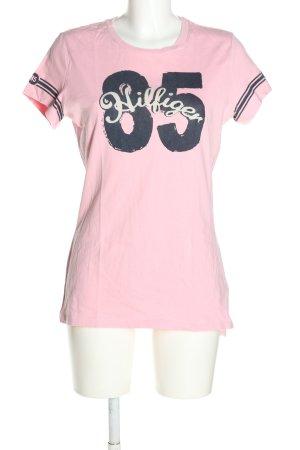 Tommy Hilfiger T-Shirt creme Schriftzug gedruckt Casual-Look