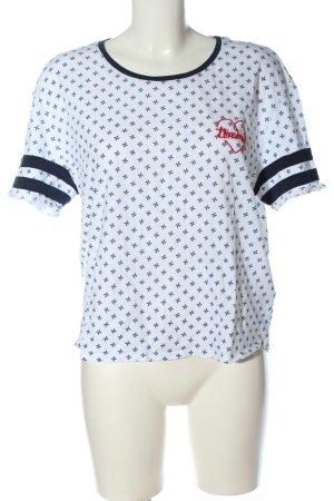 Tommy Hilfiger Camiseta blanco-azul estampado repetido sobre toda la superficie