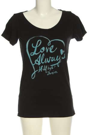 Tommy Hilfiger T-Shirt schwarz-blau Motivdruck Casual-Look
