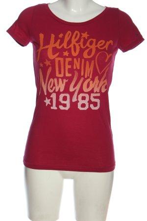 Tommy Hilfiger T-Shirt rot Schriftzug gedruckt Casual-Look
