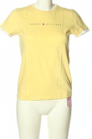 Tommy Hilfiger T-Shirt blassgelb Casual-Look