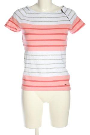 Tommy Hilfiger T-Shirt weiß-pink Streifenmuster Casual-Look