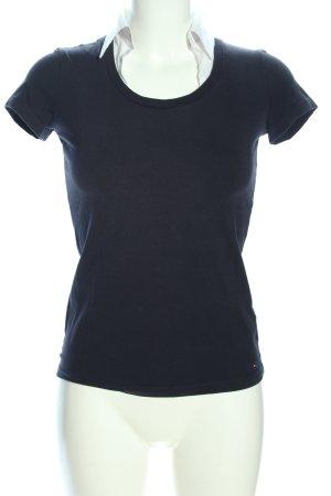 Tommy Hilfiger T-shirt zwart-wit zakelijke stijl