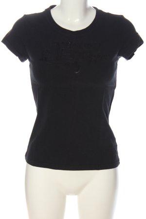 Tommy Hilfiger Camiseta negro letras impresas look casual