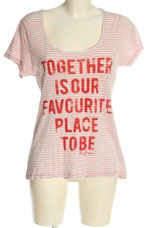 Tommy Hilfiger T-shirt Nadruk z motywem W stylu casual