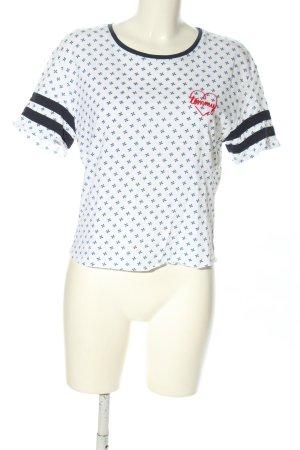 Tommy Hilfiger T-Shirt weiß-blau Allover-Druck Casual-Look