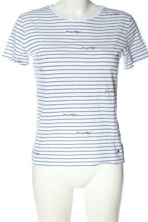 Tommy Hilfiger T-Shirt weiß Schriftzug gedruckt Casual-Look