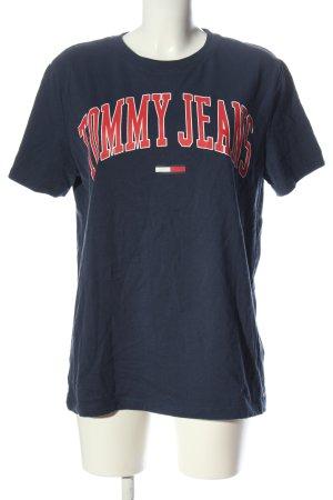 Tommy Hilfiger Camiseta azul-rojo letras impresas look casual