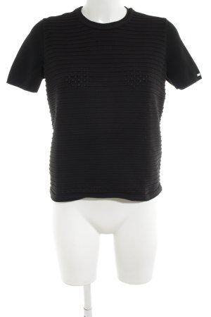 Tommy Hilfiger T-Shirt schwarz Streifenmuster Casual-Look
