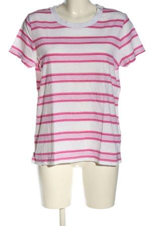Tommy Hilfiger T-Shirt pink-weiß Streifenmuster Casual-Look