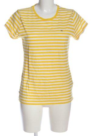 Tommy Hilfiger T-Shirt blassgelb-weiß Streifenmuster Casual-Look