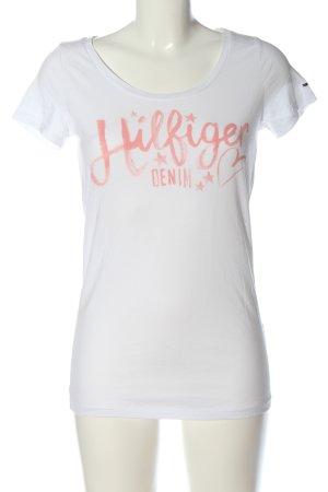 Tommy Hilfiger Camiseta blanco letras impresas look casual