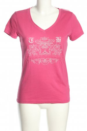 Tommy Hilfiger T-Shirt pink-weiß Motivdruck Casual-Look