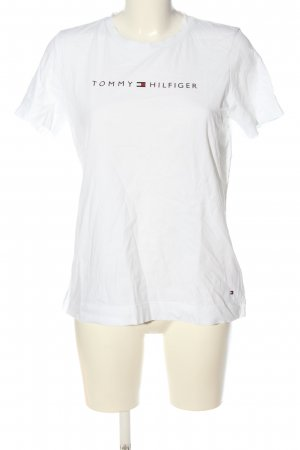 Tommy Hilfiger T-shirt wit-zwart gedrukte letters casual uitstraling