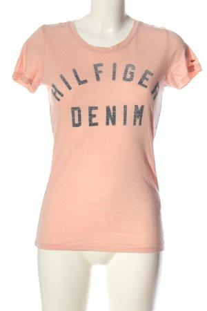 Tommy Hilfiger T-Shirt pink Schriftzug gedruckt Casual-Look