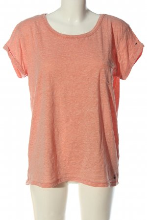 Tommy Hilfiger T-shirt licht Oranje gestippeld casual uitstraling