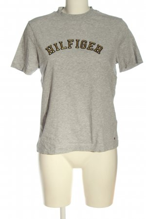 Tommy Hilfiger T-Shirt hellgrau Motivdruck Casual-Look