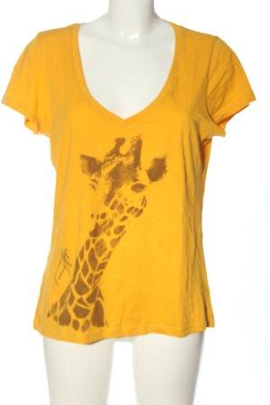 Tommy Hilfiger T-Shirt hellorange-braun Motivdruck Casual-Look