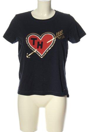 Tommy Hilfiger T-Shirt blau Motivdruck Casual-Look