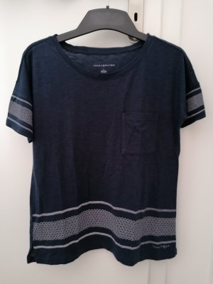 Tommy Hilfiger T-Shirt blau Muster S 36