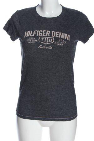 Tommy Hilfiger T-Shirt blau-wollweiß meliert Casual-Look
