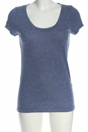 Tommy Hilfiger T-Shirt blau meliert Casual-Look