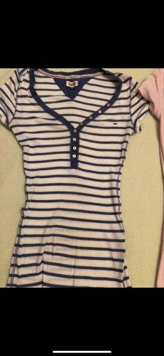 Tommy Hilfiger V-Neck Shirt white-dark blue