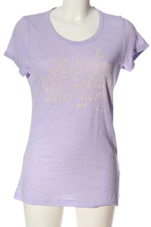 Tommy Hilfiger T-Shirt lila Schriftzug gedruckt Casual-Look