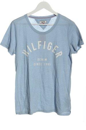 Tommy Hilfiger T-Shirt blau-wollweiß Motivdruck Casual-Look