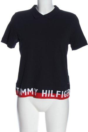 Tommy Hilfiger T-Shirt schwarz Schriftzug gedruckt Casual-Look