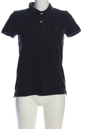 Tommy Hilfiger T-Shirt schwarz Schriftzug gestickt Casual-Look