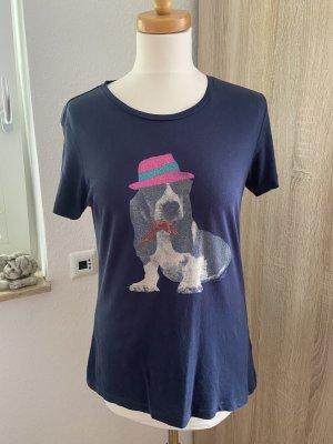 Tommy Hilfiger T-shirt imprimé rose-bleu foncé