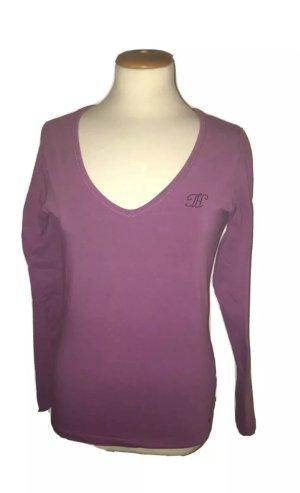 Tommy Hilfiger, T-Shirt, Langarm, stretch, lila, neu, Gr. M