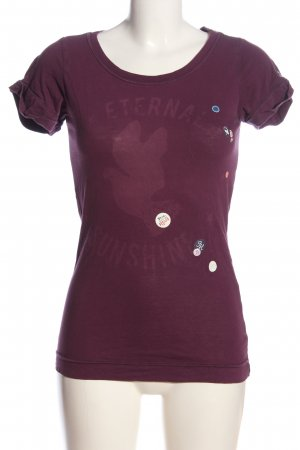 Tommy Hilfiger T-Shirt lila Motivdruck Casual-Look