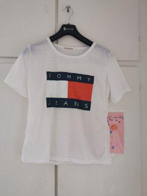 Tommy Hilfiger T-shirt wit-rood