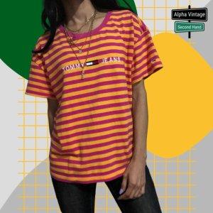 Tommy Hilfiger T-Shirt Oversized Gestreiftes Shirt   S