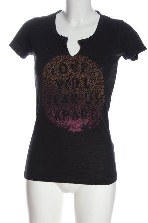 Tommy Hilfiger T-Shirt schwarz-braun Motivdruck Casual-Look