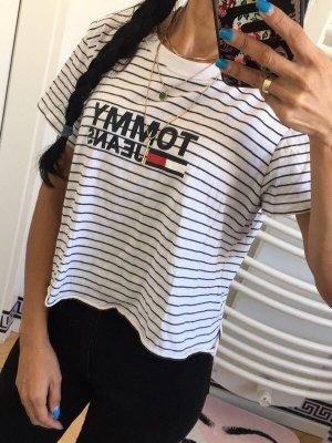 Tommy Hilfiger T-Shirt top crop cropped  (selbst geschnitten) Gr:M