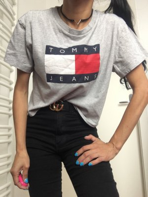 "Tommy Hilfiger T-Shirt Top crop ""Tommy jeans"" big logo G:152/XXS"