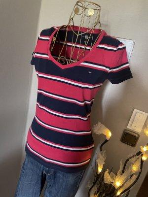 Tommy Hilfiger T-Shirt V- Ausschnitt gestreift Gr S