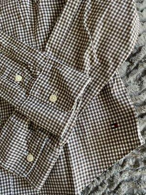 Tommy Hilfiger taillierte Bluse im Vichy-Karomuster
