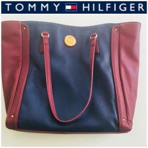 Tommy Hilfiger  Tasche Shopper Blau/Bordeaux