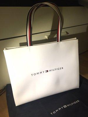 Tommy hilfiger Tasche Shopper Logo weiß neu mit Staubbeutel