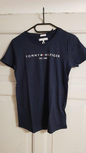Tommy Hilfiger Tee T-Shirt Gr. S NEU dunkelblau