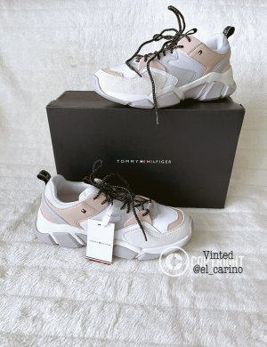 Tommy Hilfiger TH *Cozy Chunky Sneaker* Schuhe Sport Freizeit Blogger Streetstyle Lederkombination