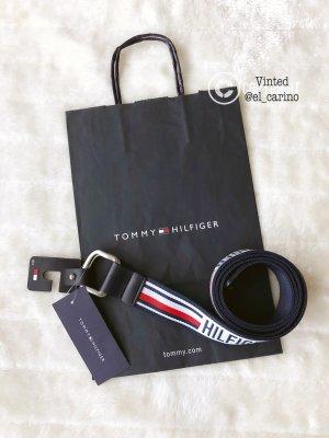 Tommy Hilfiger TH *Urban D-Ring Webbing Belt* Gürtel Stoff Flex Unisex Logo variabel Blogger